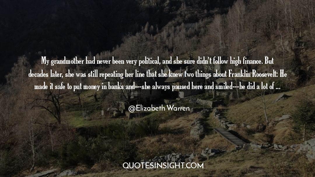 Franklin Roosevelt quotes by Elizabeth Warren