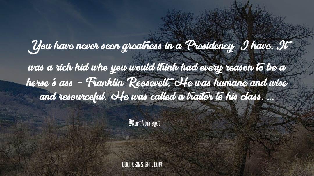 Franklin Roosevelt quotes by Kurt Vonnegut