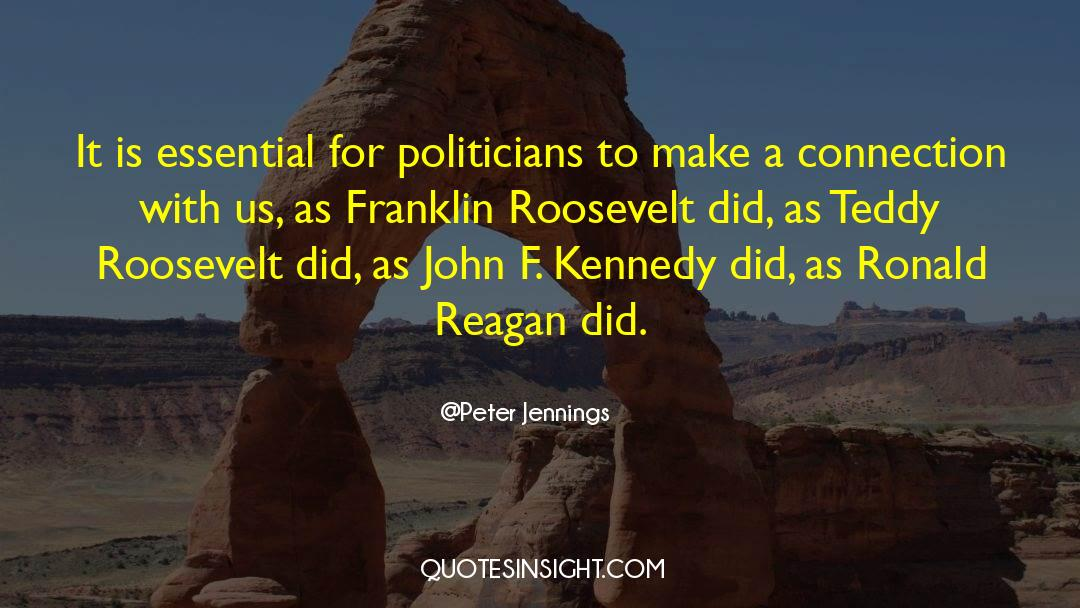 Franklin Roosevelt quotes by Peter Jennings