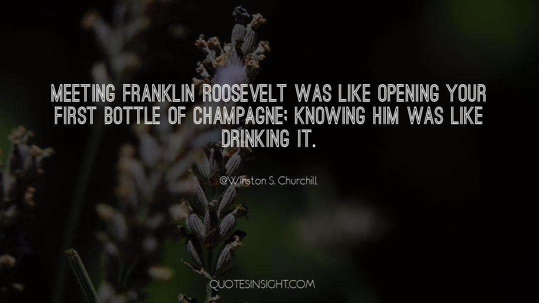 Franklin Roosevelt quotes by Winston S. Churchill
