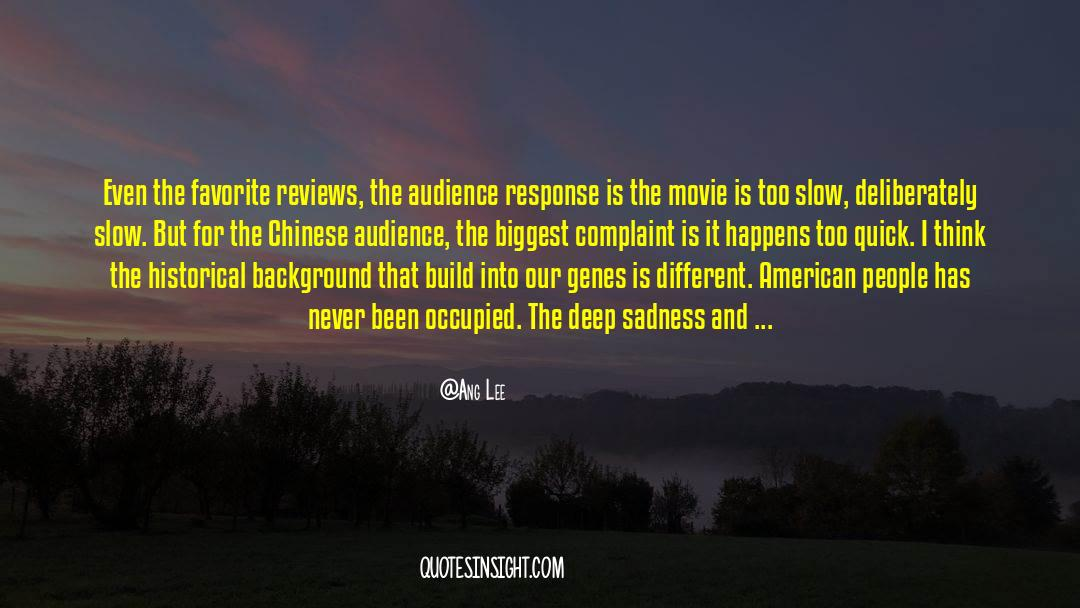 Historical quotes by Ang Lee