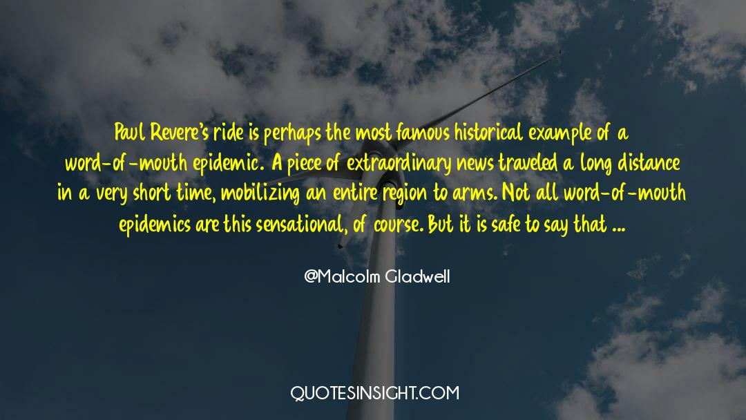 Historical quotes by Malcolm Gladwell