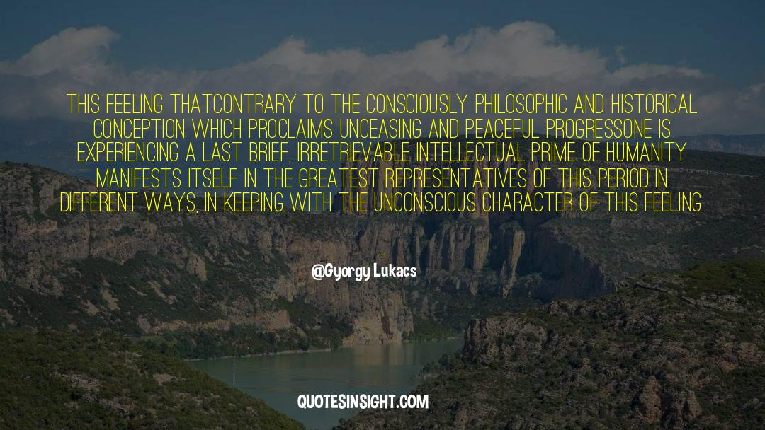 Historical quotes by Gyorgy Lukacs