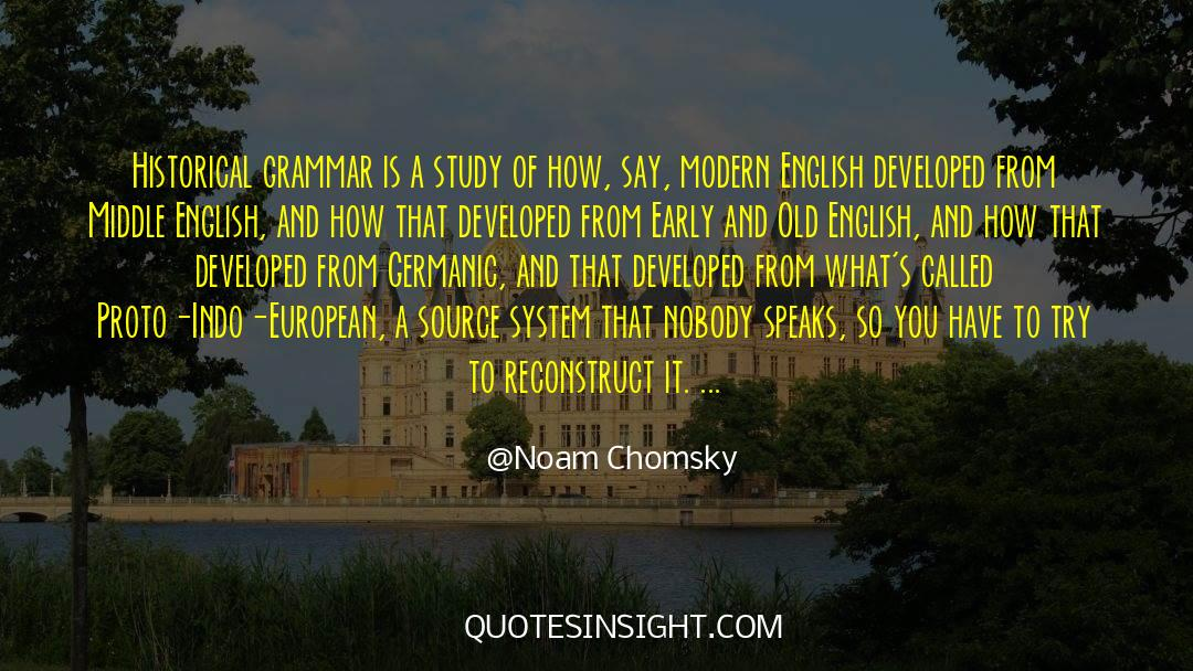 Historical quotes by Noam Chomsky