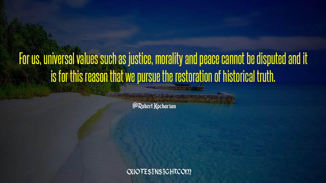 Historical quotes by Robert Kocharian