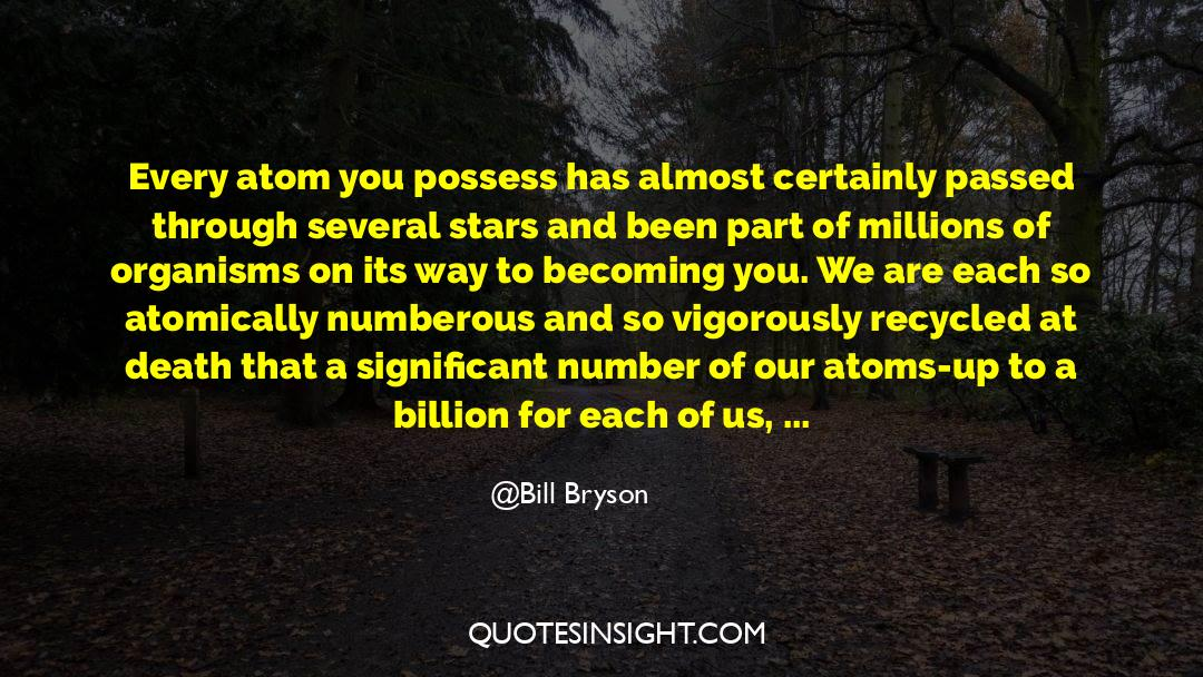 Historical quotes by Bill Bryson
