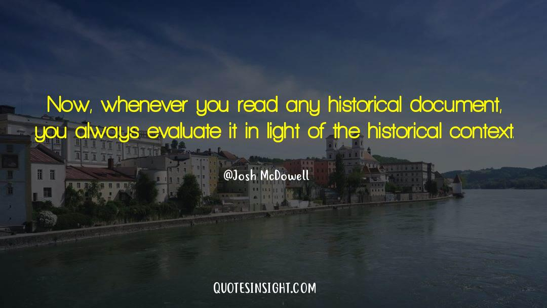 Historical quotes by Josh McDowell