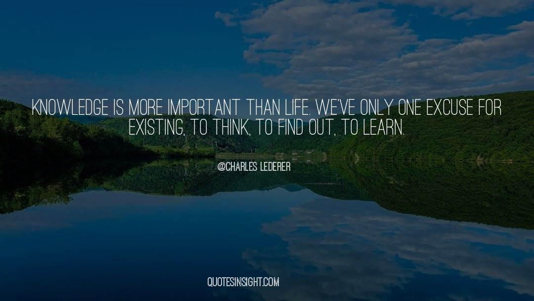 Important Contributions quotes by Charles Lederer