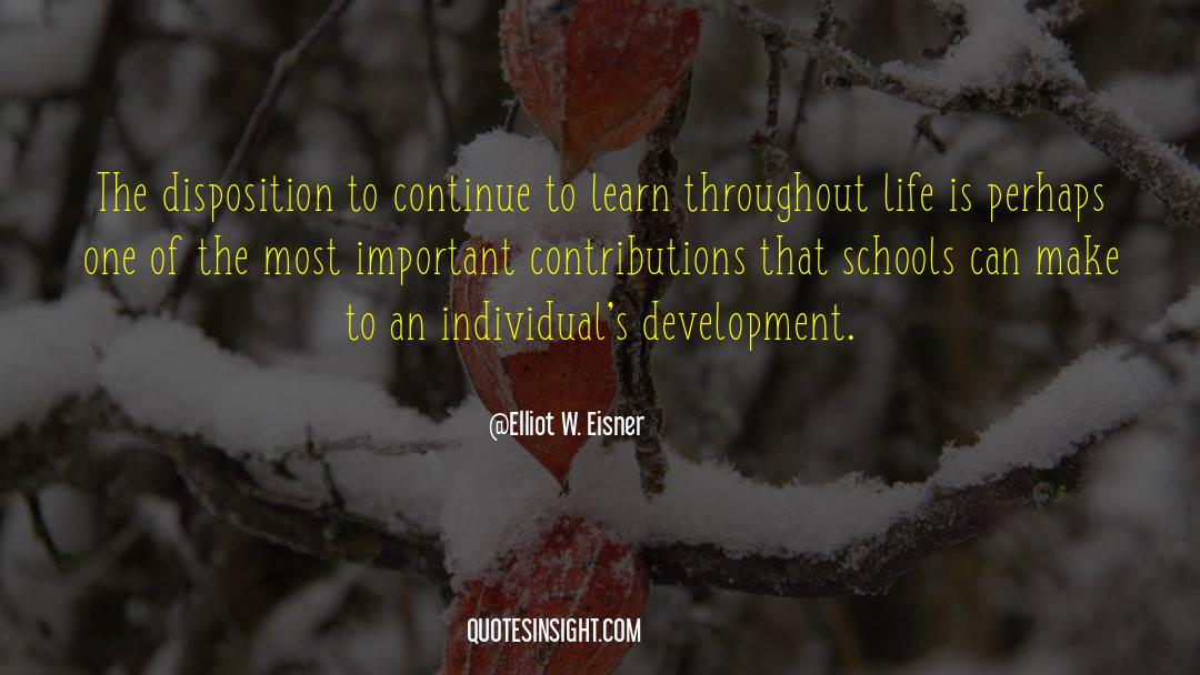 Important Contributions quotes by Elliot W. Eisner
