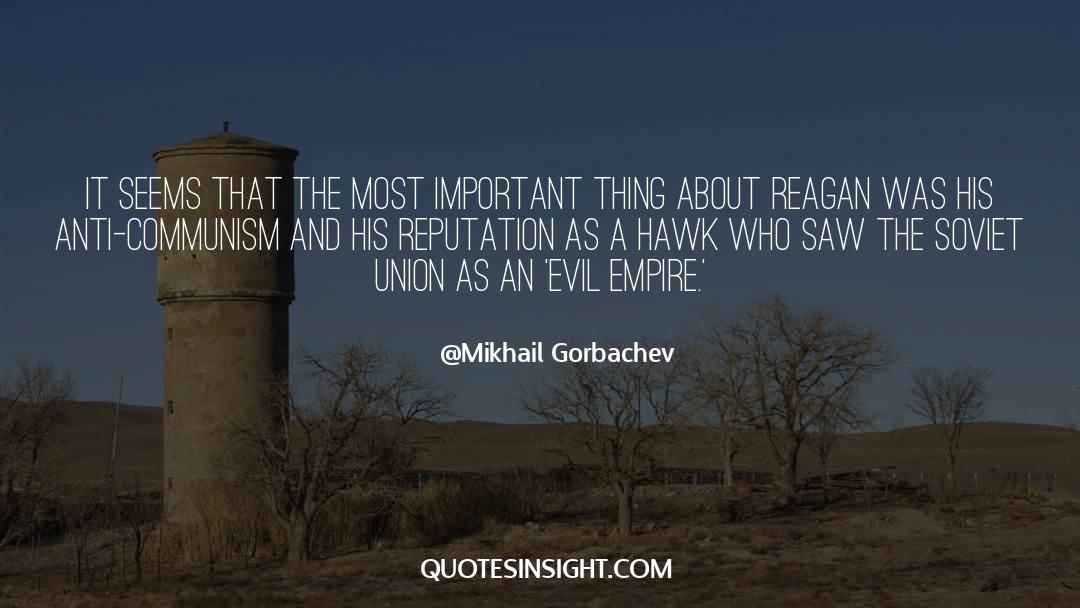 Important Contributions quotes by Mikhail Gorbachev