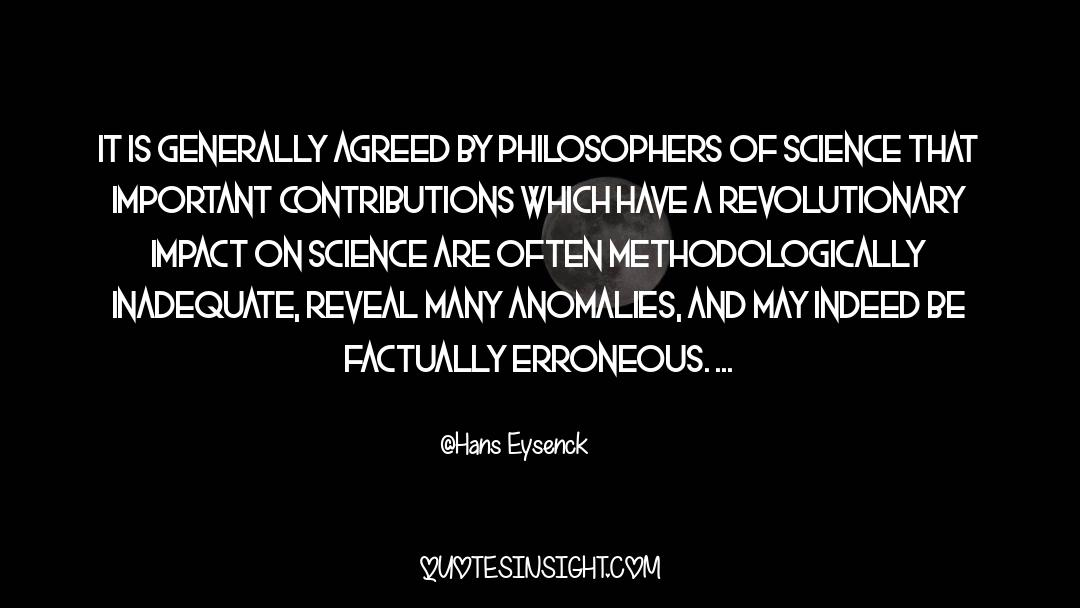 Important Contributions quotes by Hans Eysenck