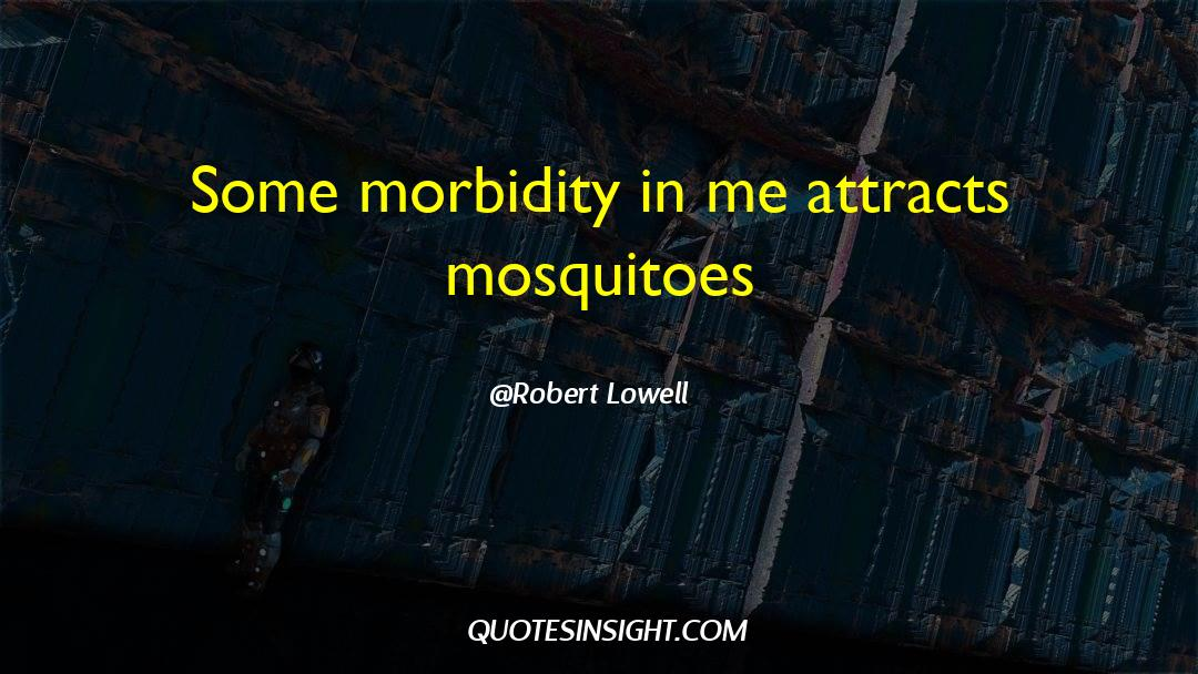 Morbidity quotes by Robert Lowell