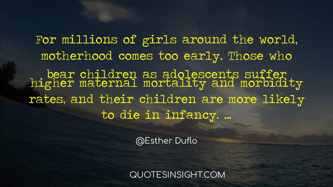 Morbidity quotes by Esther Duflo