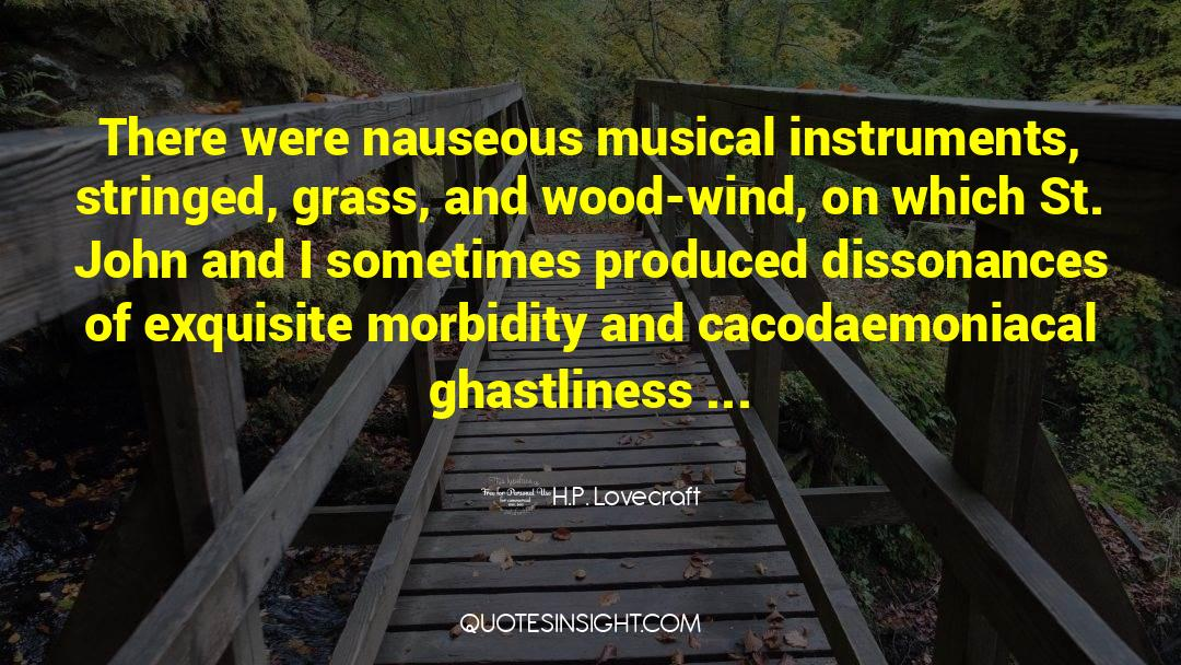 Morbidity quotes by H.P. Lovecraft