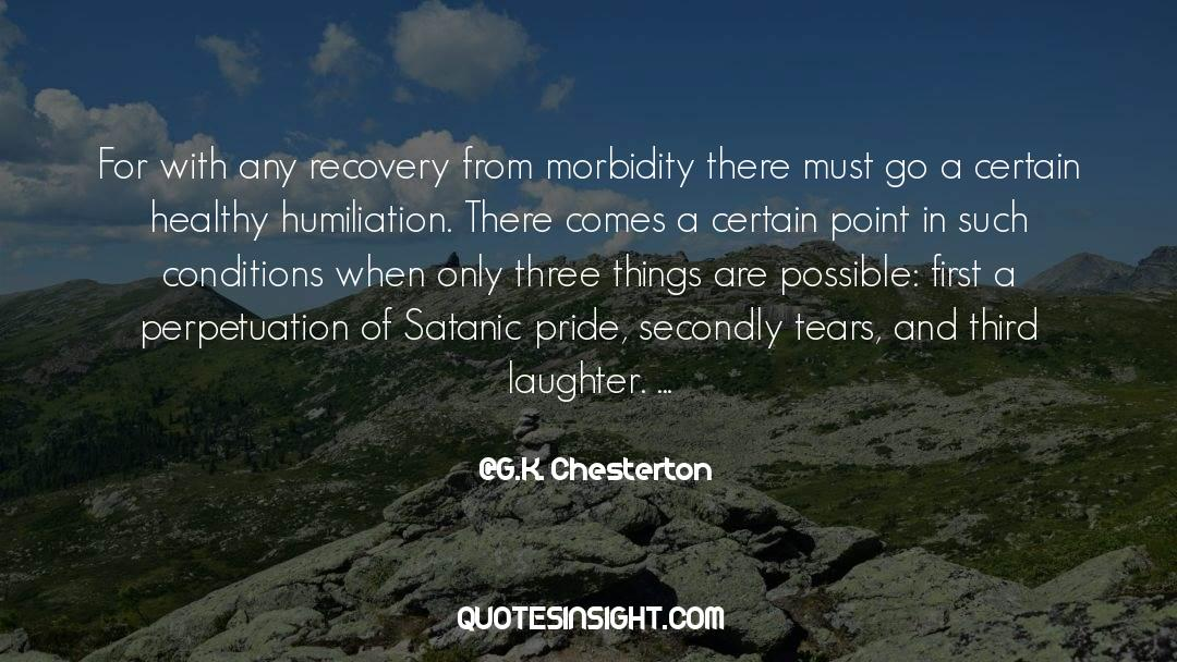 Morbidity quotes by G.K. Chesterton