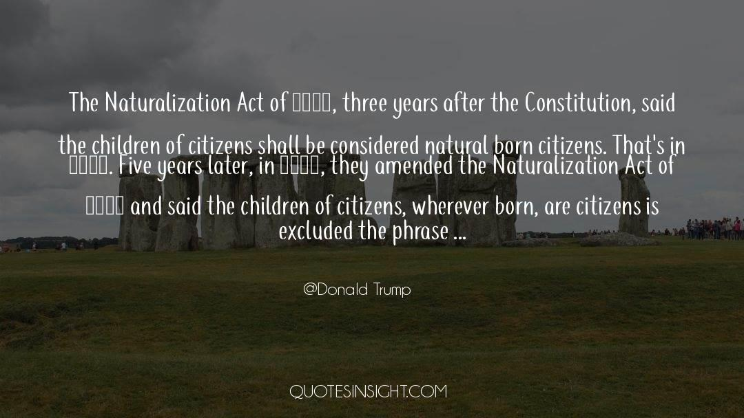 Nineteen Years Later quotes by Donald Trump