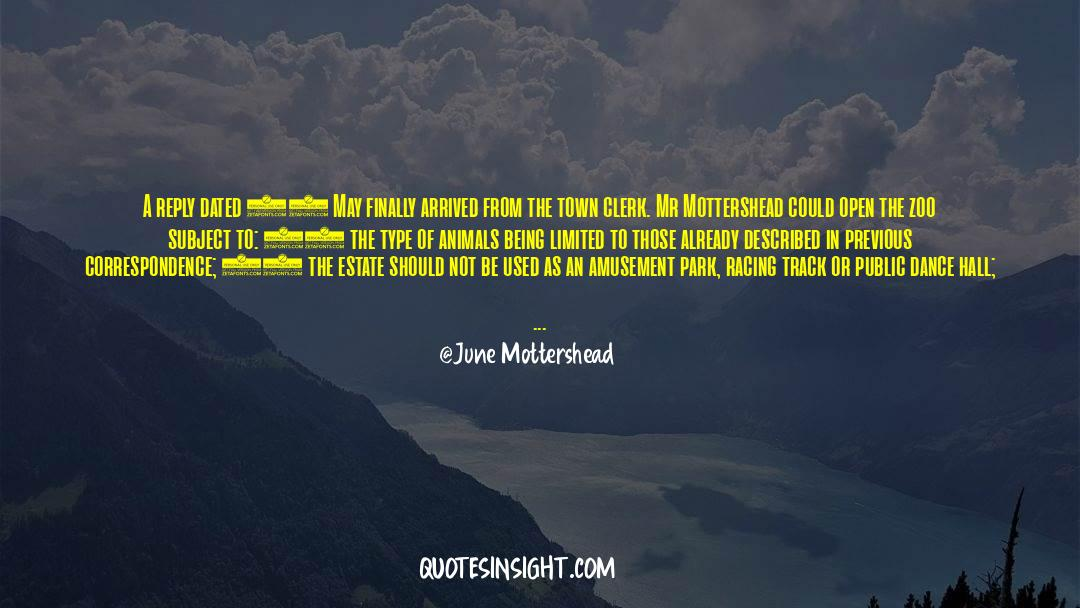 Nineteen Years Later quotes by June Mottershead