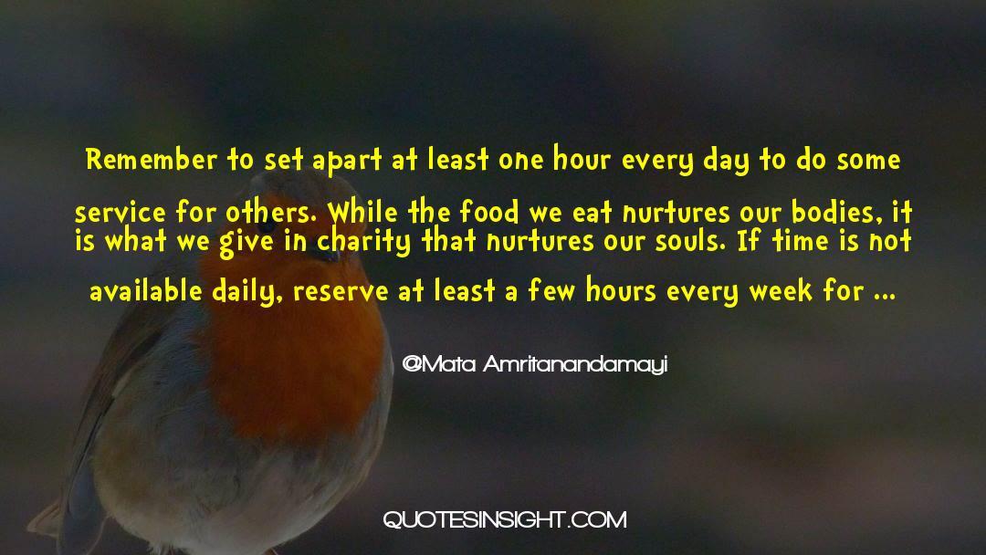 One Hour quotes by Mata Amritanandamayi