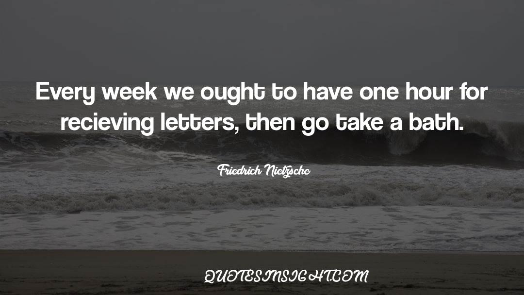 One Hour quotes by Friedrich Nietzsche