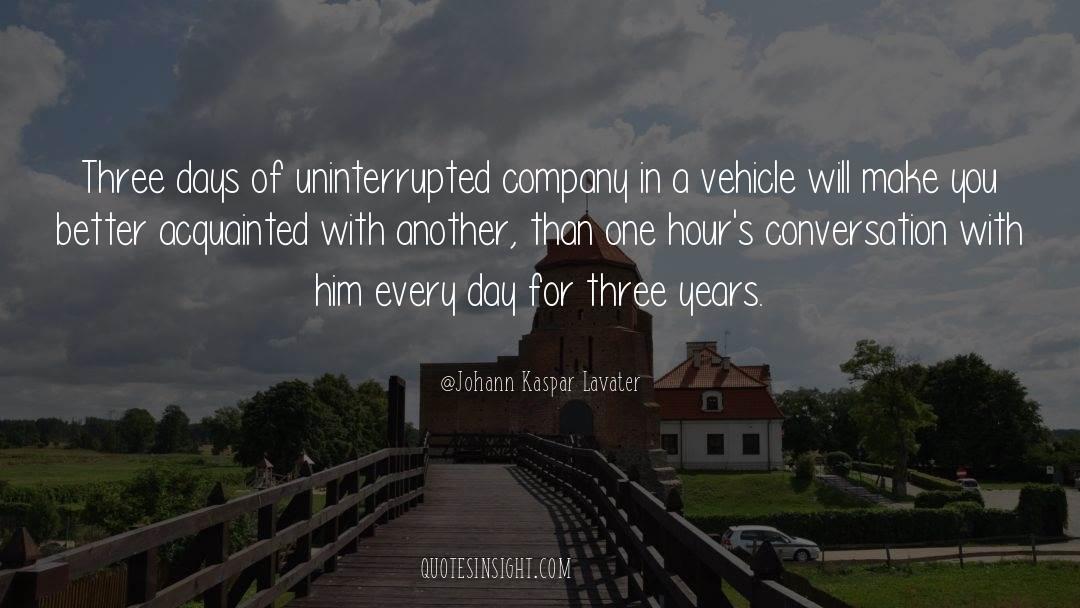 One Hour quotes by Johann Kaspar Lavater