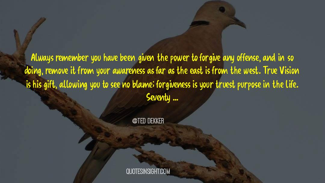 Power To Forgive quotes by Ted Dekker