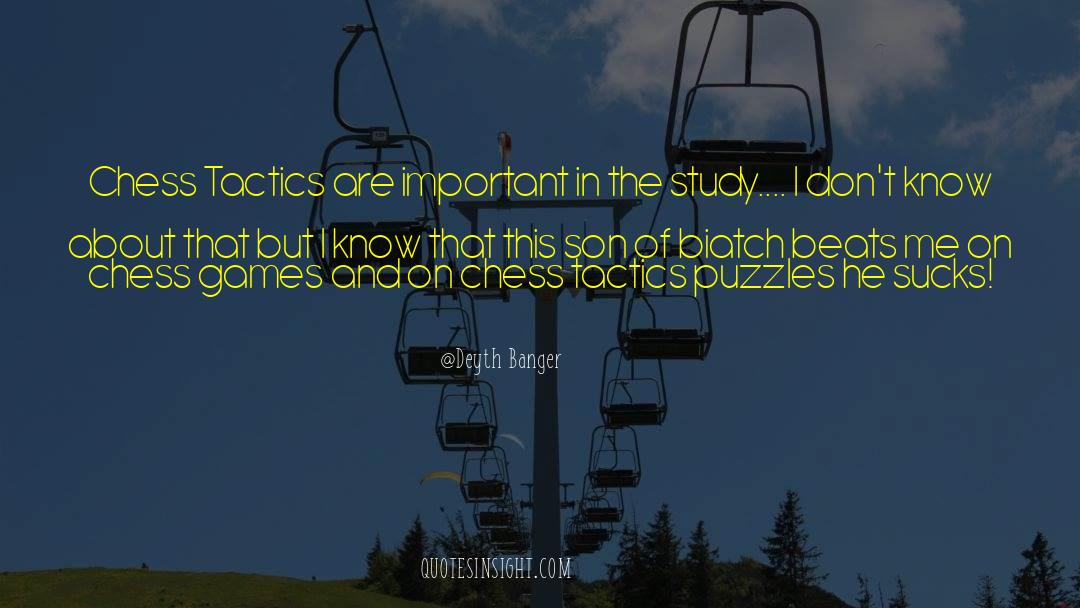 Puzzles quotes by Deyth Banger