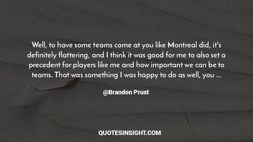 Puzzles quotes by Brandon Prust