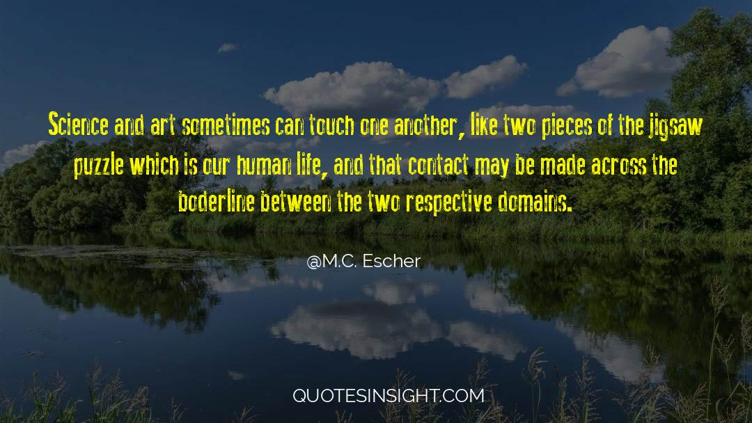 Puzzles quotes by M.C. Escher