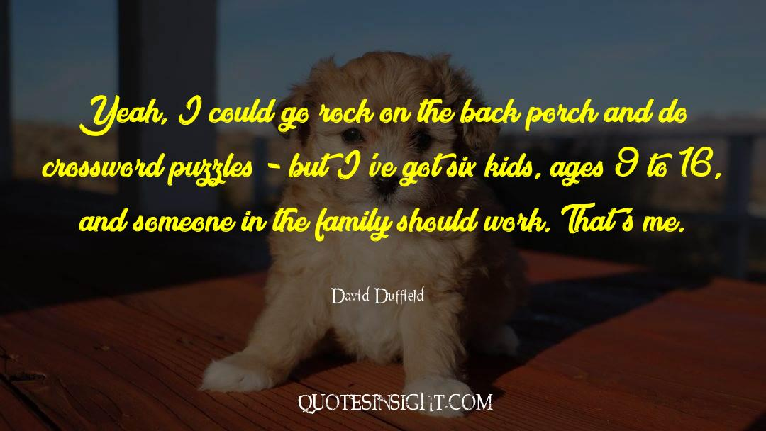 Puzzles quotes by David Duffield