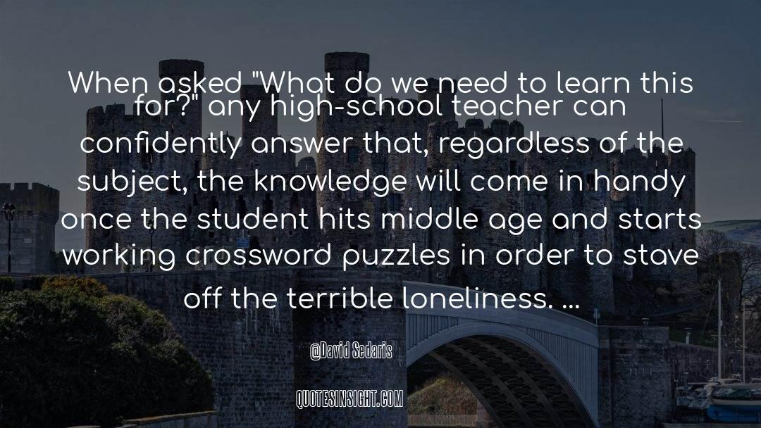 Puzzles quotes by David Sedaris