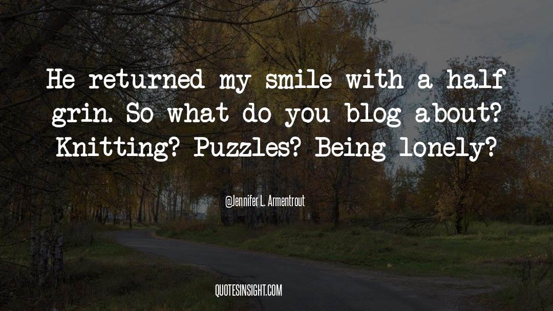 Puzzles quotes by Jennifer L. Armentrout