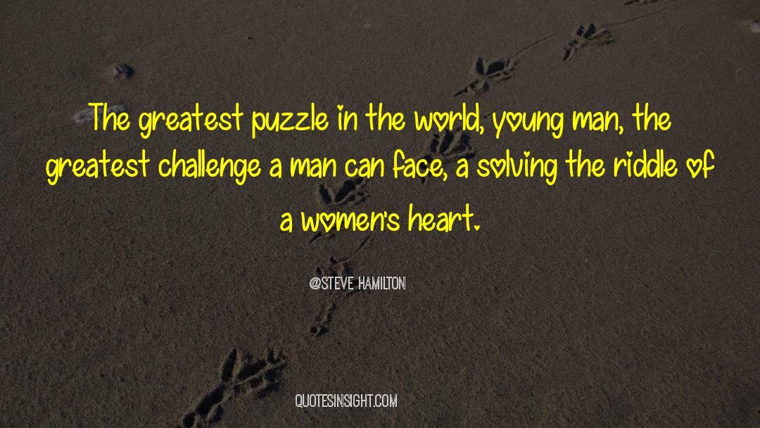 Puzzles quotes by Steve Hamilton