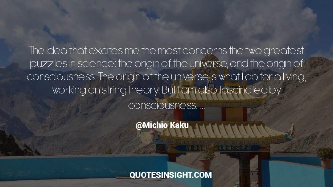 Puzzles quotes by Michio Kaku