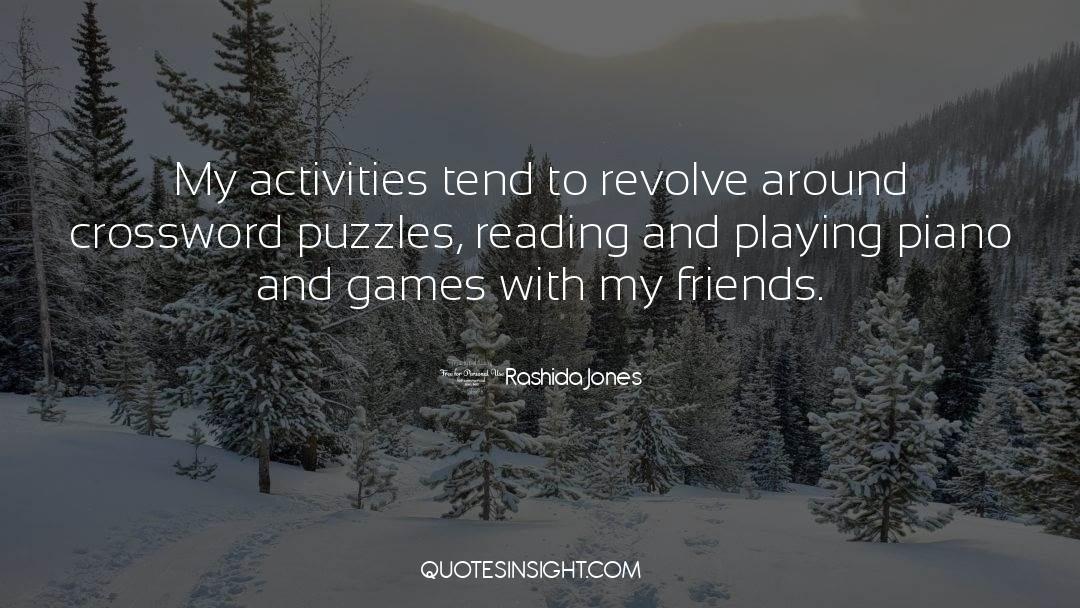 Puzzles quotes by Rashida Jones