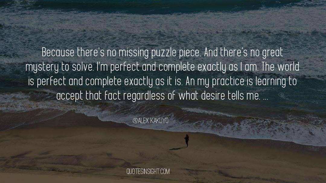 Puzzles quotes by Alex Kakuyo