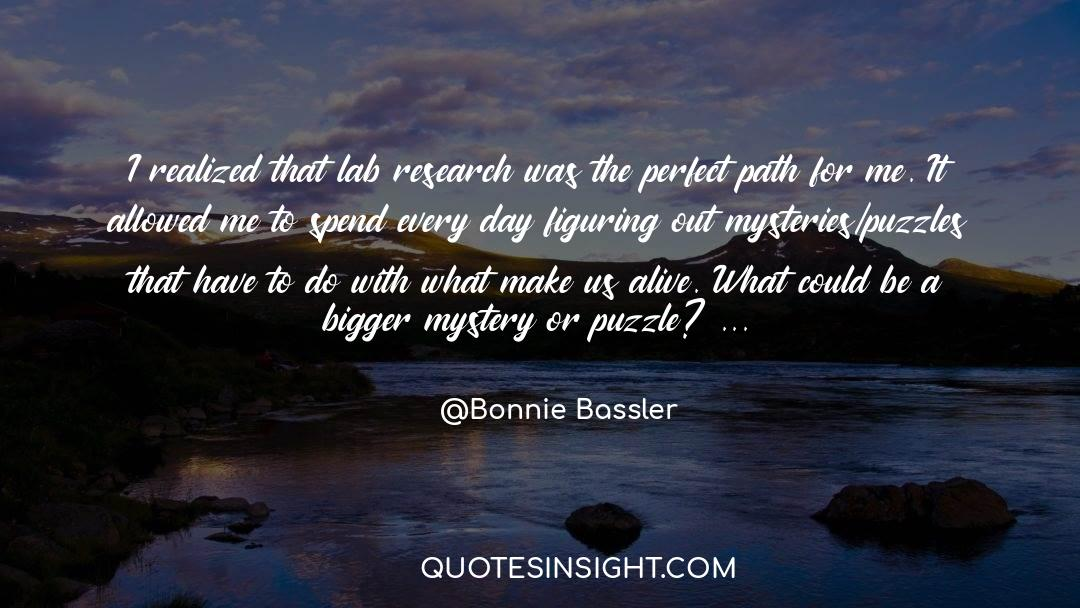 Puzzles quotes by Bonnie Bassler