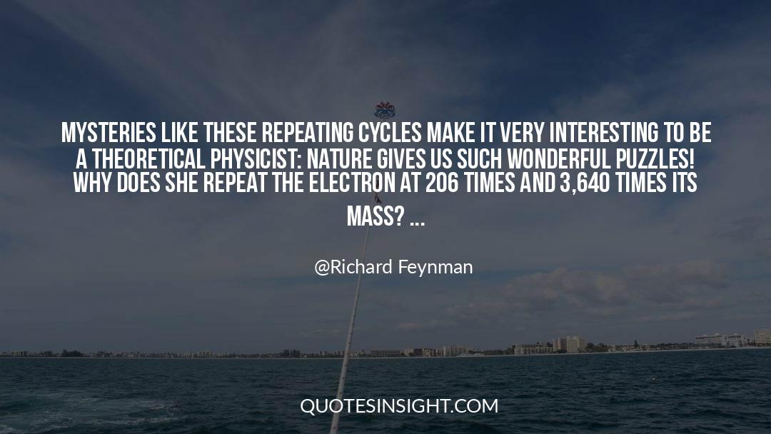 Puzzles quotes by Richard Feynman