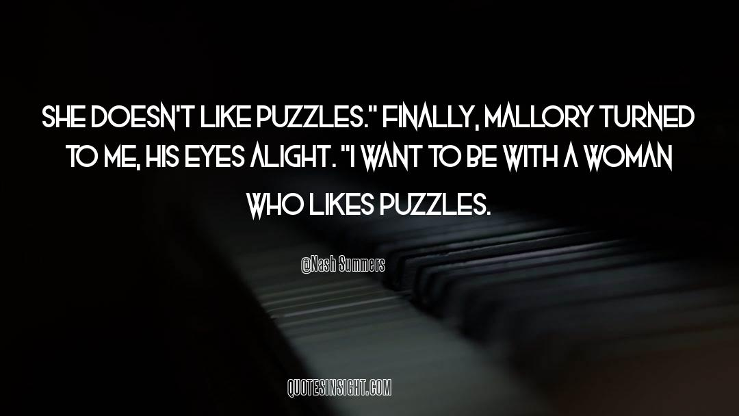 Puzzles quotes by Nash Summers