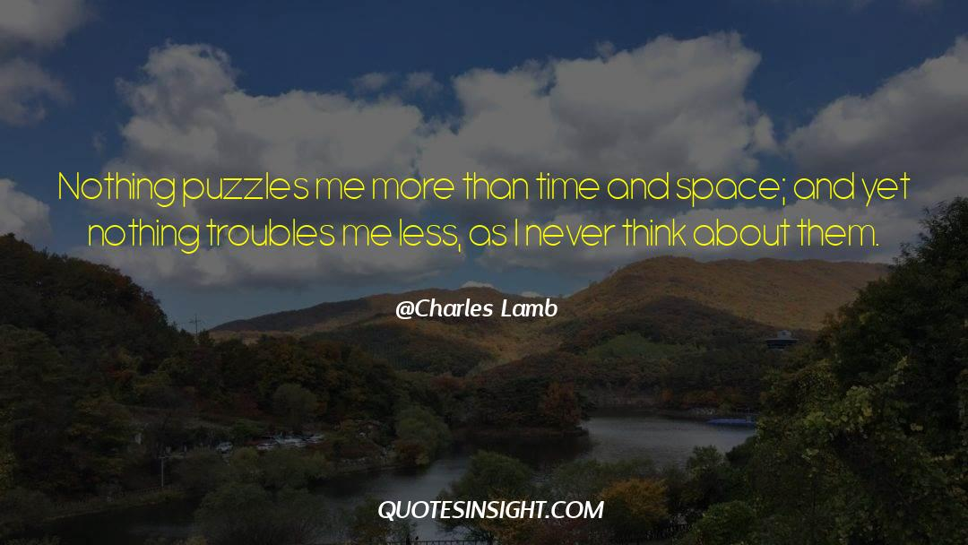 Puzzles quotes by Charles Lamb