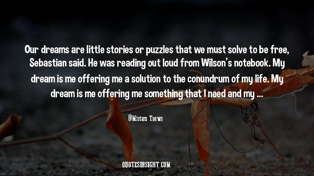 Puzzles quotes by Miriam Toews