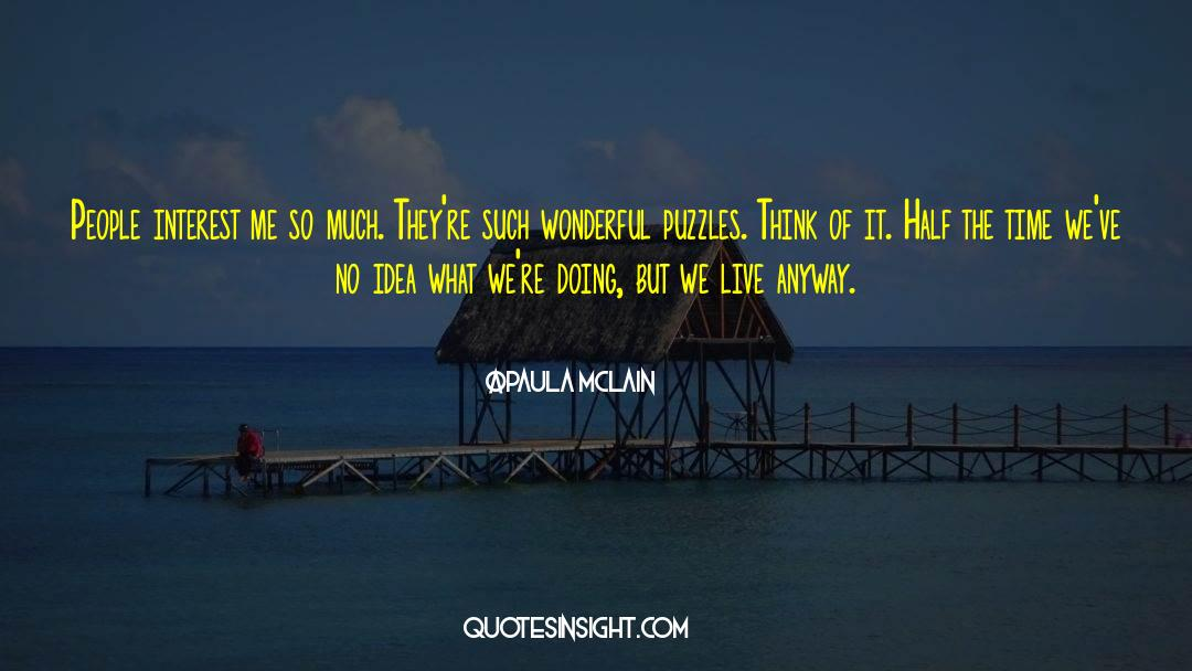 Puzzles quotes by Paula McLain
