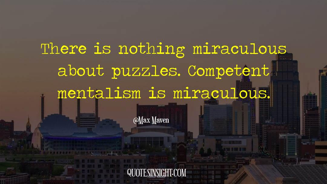 Puzzles quotes by Max Maven