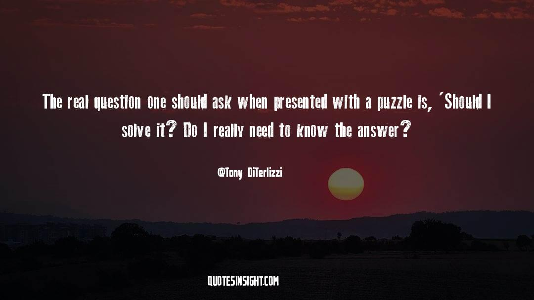 Puzzles quotes by Tony DiTerlizzi