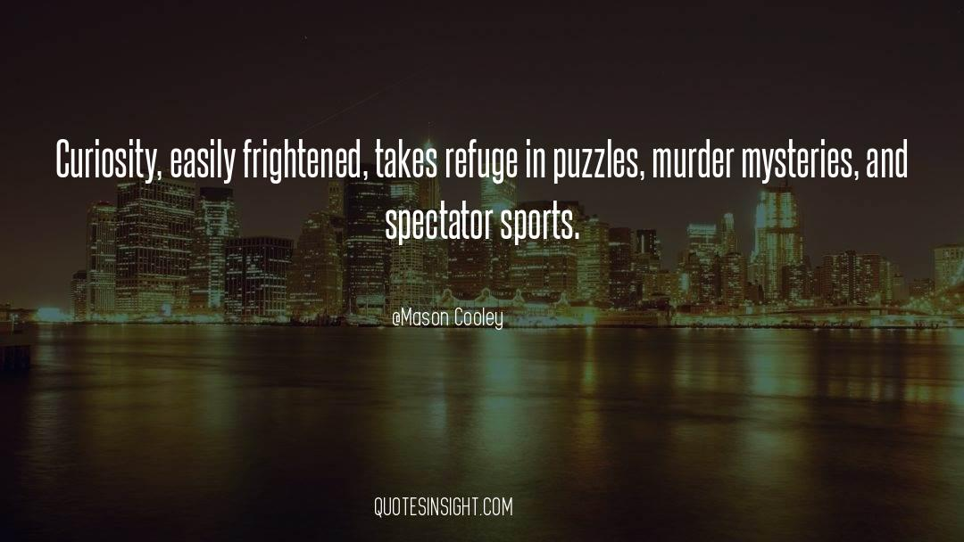 Puzzles quotes by Mason Cooley