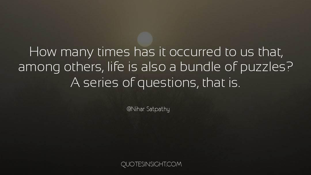 Puzzles quotes by Nihar Satpathy