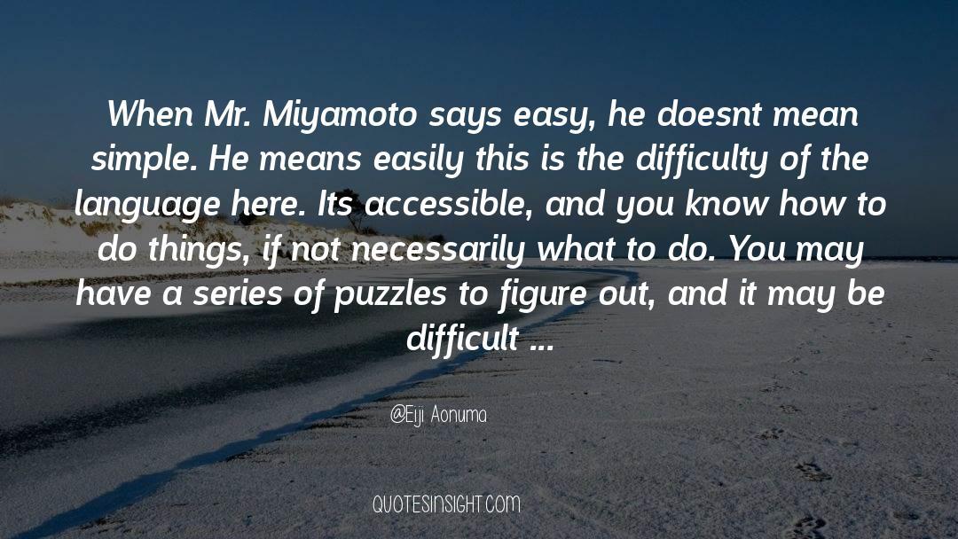 Puzzles quotes by Eiji Aonuma