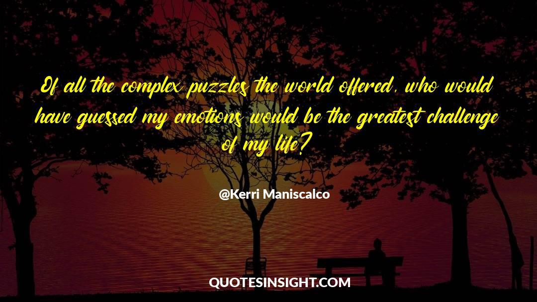 Puzzles quotes by Kerri Maniscalco