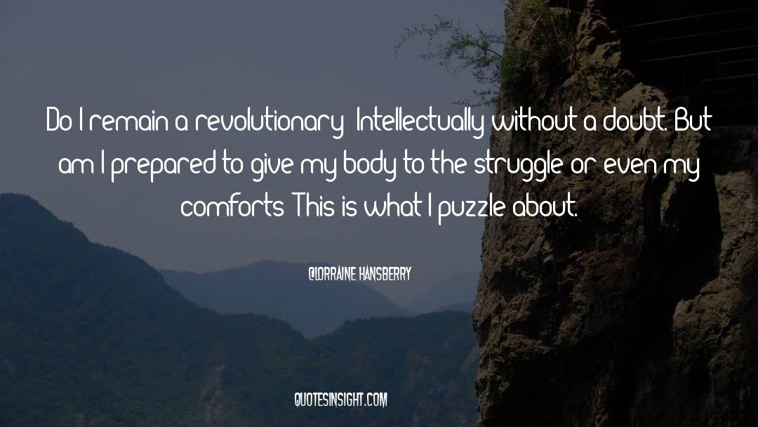 Puzzles quotes by Lorraine Hansberry