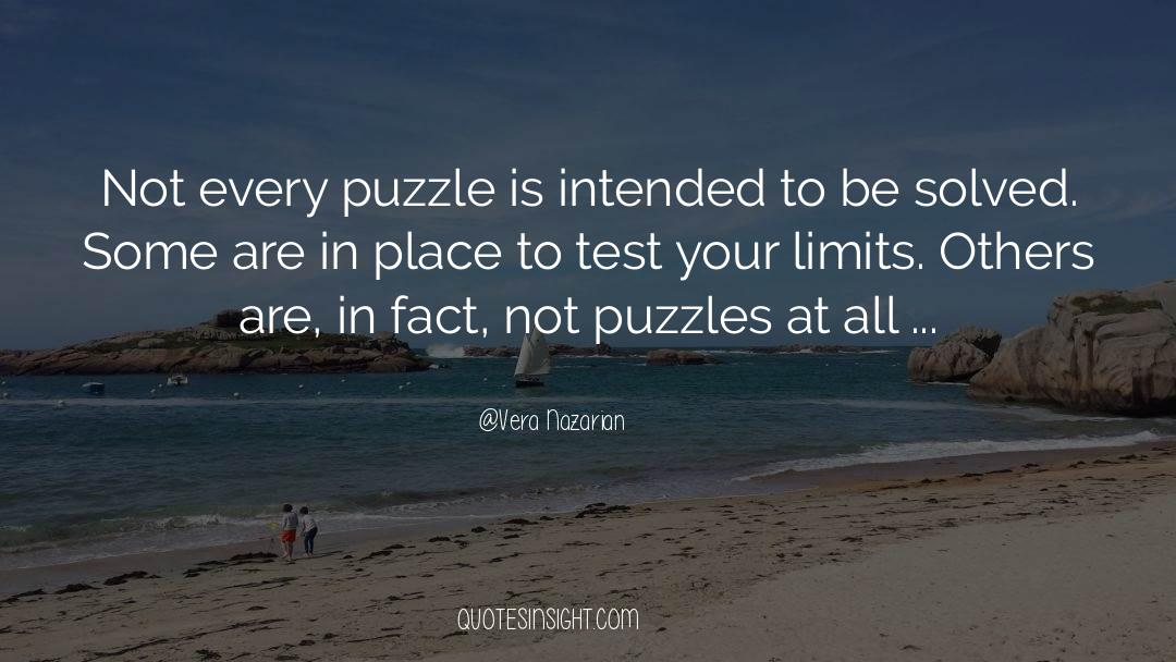 Puzzles quotes by Vera Nazarian