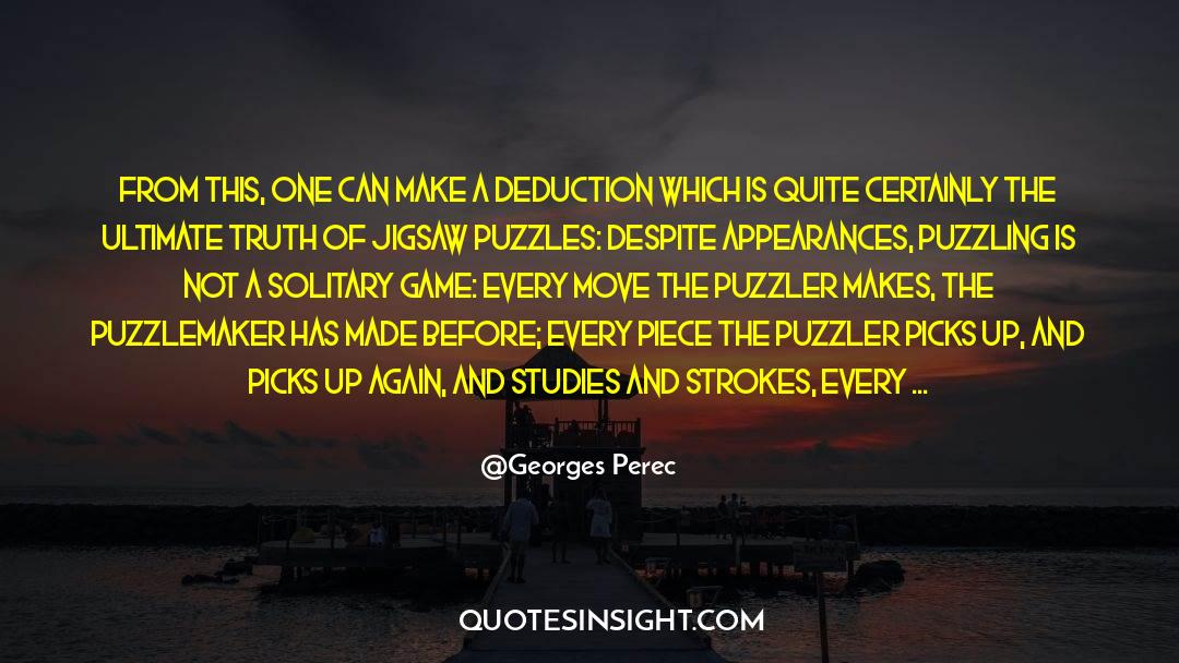 Puzzles quotes by Georges Perec